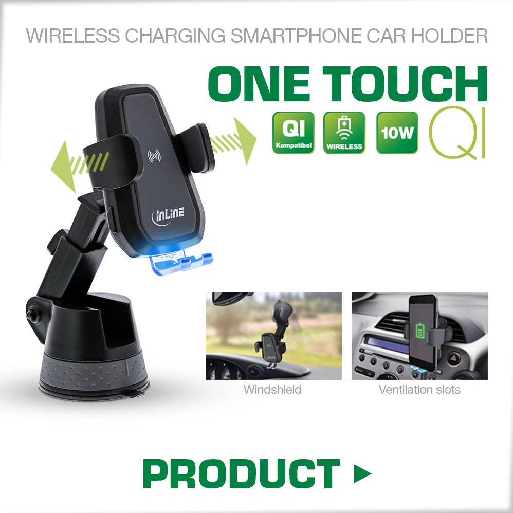 One Touch Qi Wireless Charging Smartphone-Holder