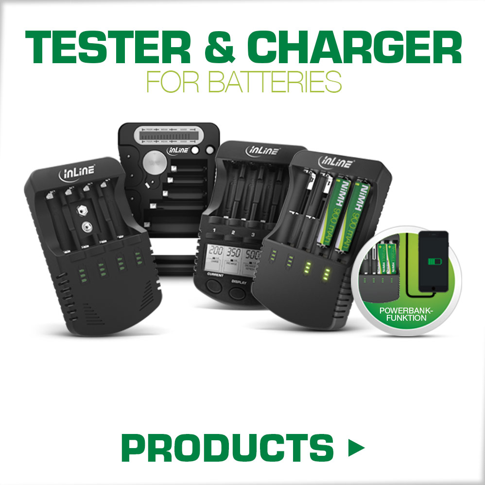 Charger an tester for batteries