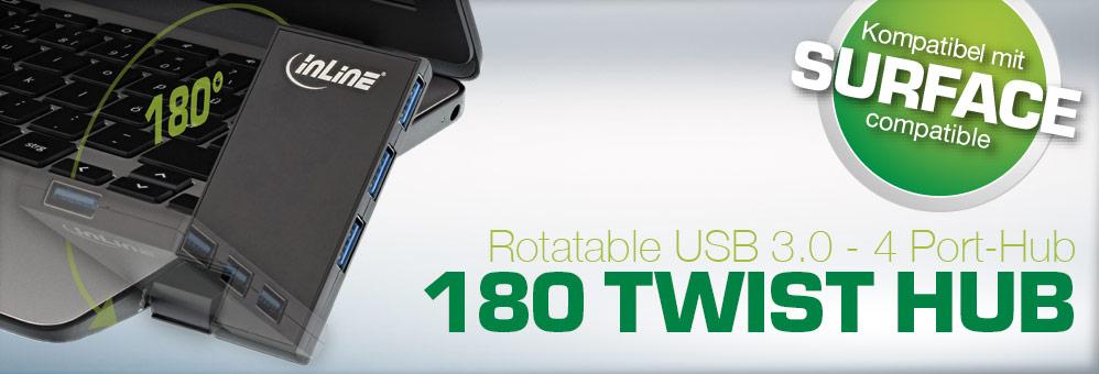 InLine® USB 3.0 Rotatable Hub