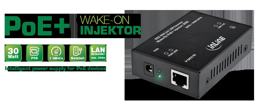 InLine PoE+ Injector