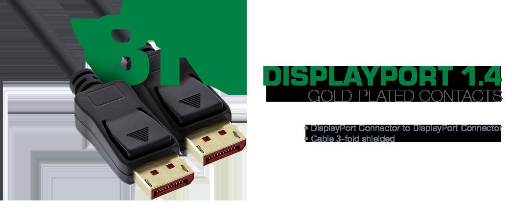 InLine 8K Displayport cable