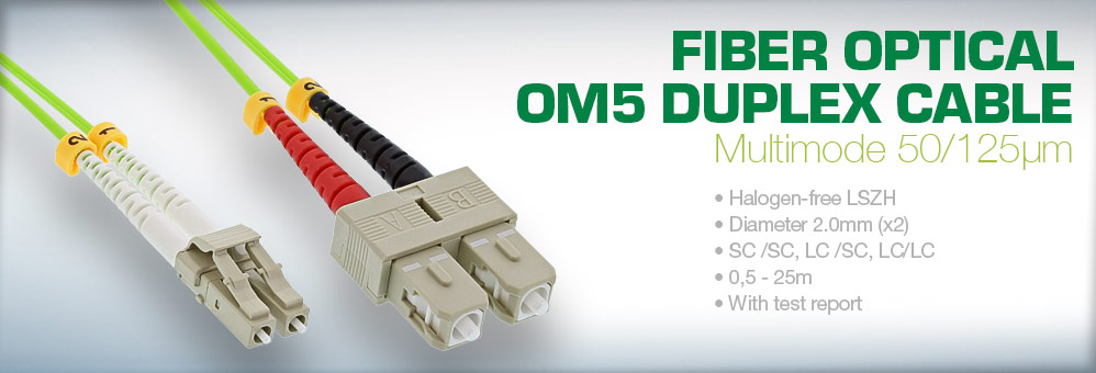 InLine® Fiber Optical Duplex Cable, OM5