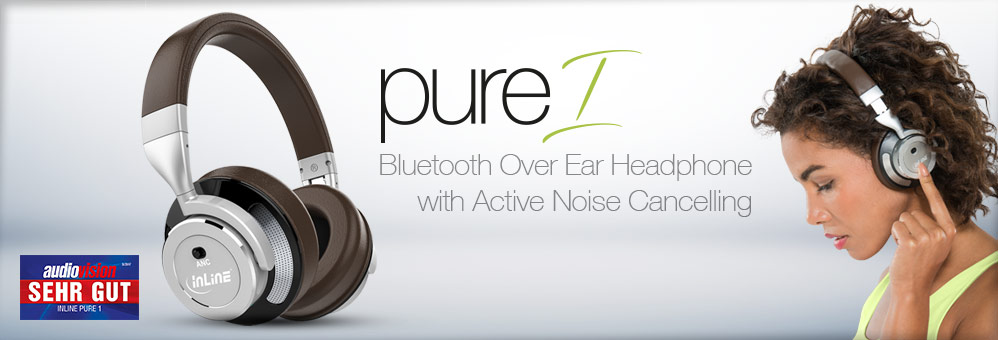 InLine PURE 1 - Bluetooth Over Ear Headphone with Active Noise Cancelling