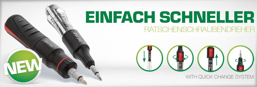 Ratchet screwdriver with Bit quick change system