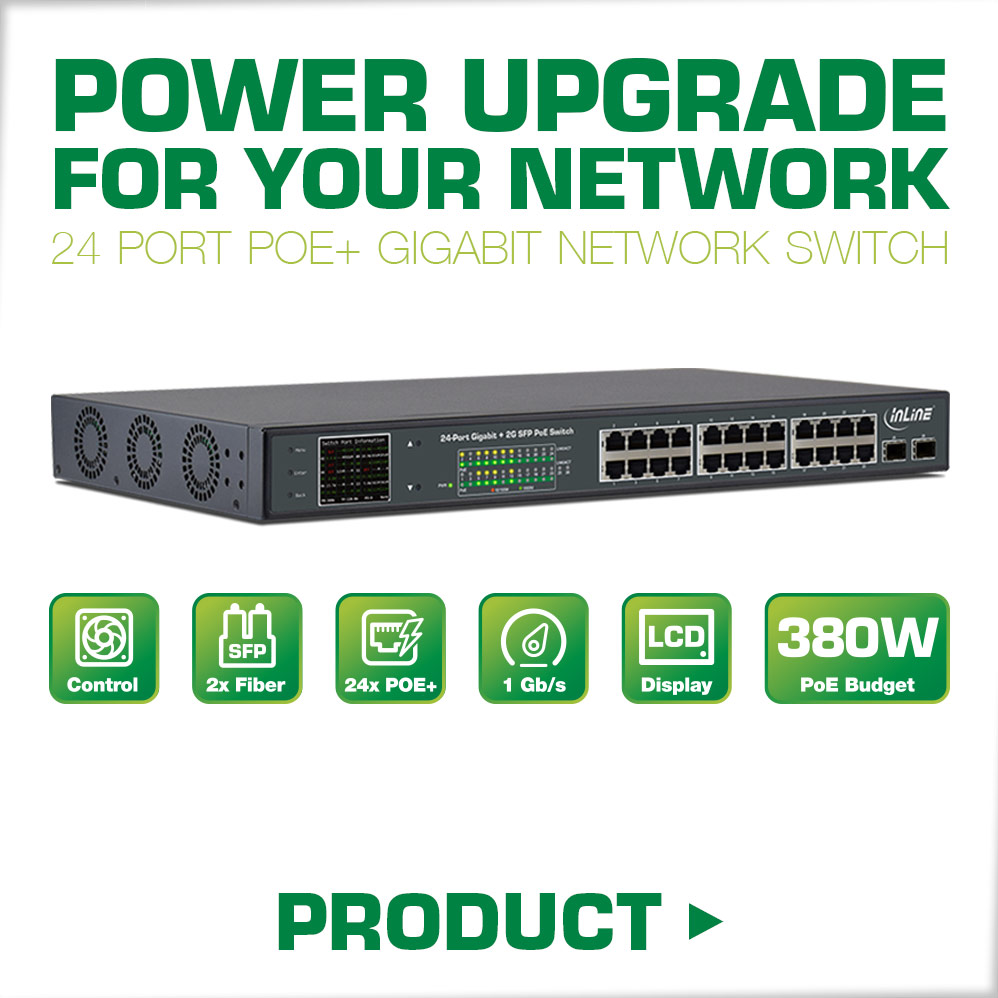 https://en.intos.de/product-overview/network-infrastructure/switches/12359/inline-poe-gigabit-network-switch-24-port-1gbit/s-2x-sfp-48-26cm-19-brackets-included-metal-fan-control-with-display-420w