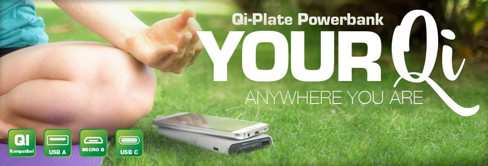 InLine Qi-Plate – 8.000mAh Powerbank
