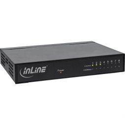 InLine® Network Switch 8 Port, Gigabit Ethernet, 10/100/1000MBit/s, Desktop, Metal, without fan, shielded ports