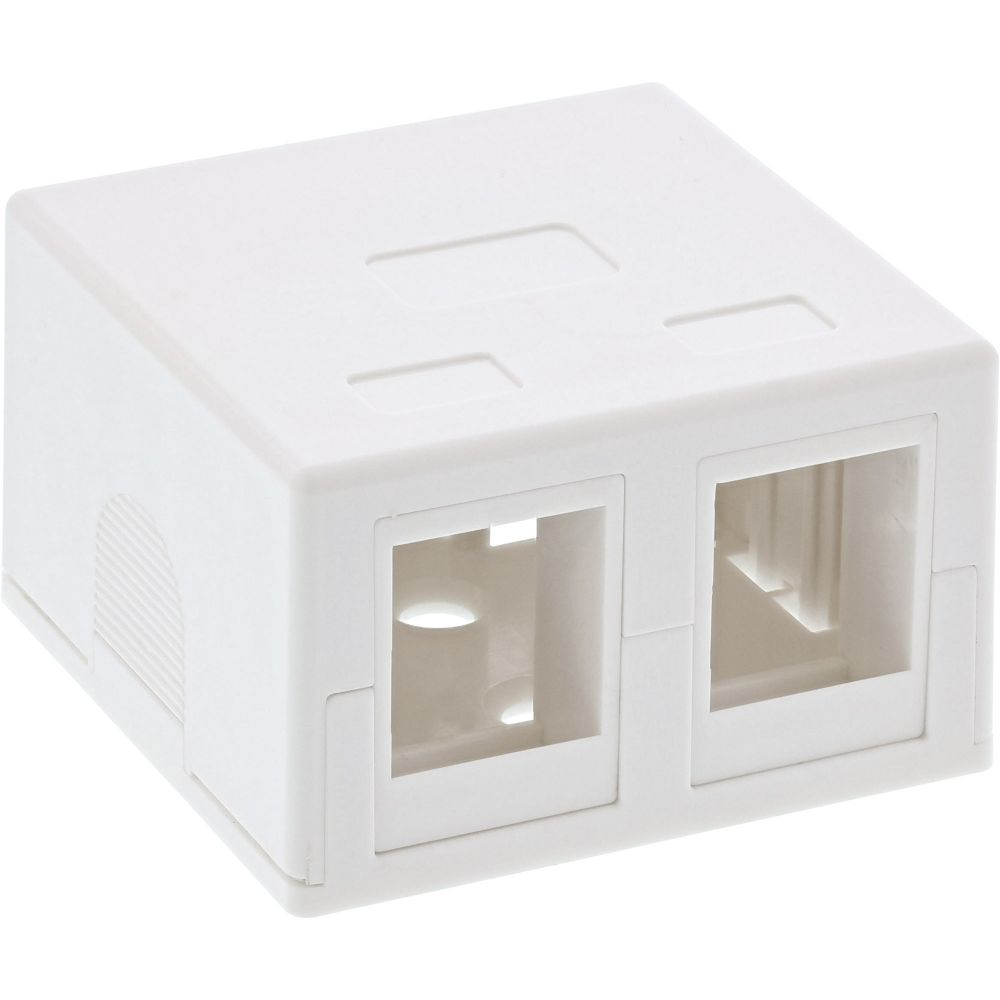 InLine® Surface Mount Box for keystone 2x RJ45, white