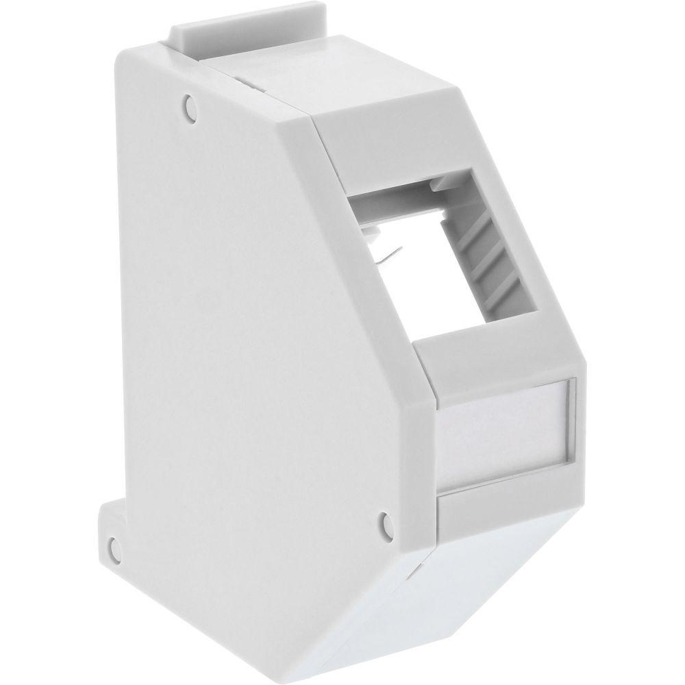 InLine® Keystone Mounting for DIN rail, 1-port, light grey