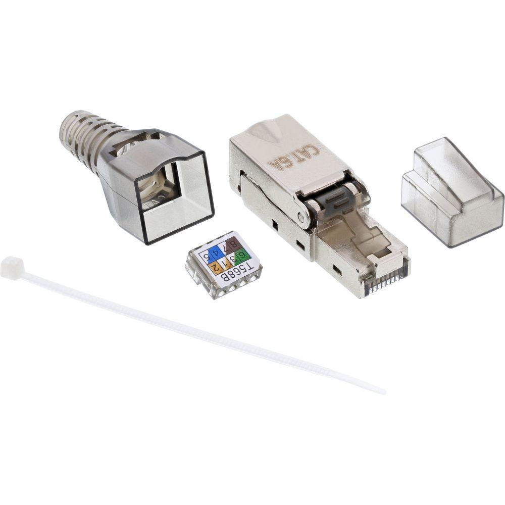 InLine® RJ45 plug Cat.6A 500MHz, field-installable, shielded