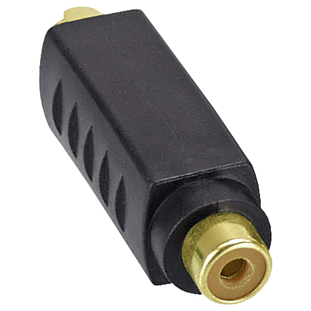 InLine® S-Video Adapter active 4 Pin male to RCA female gold plated