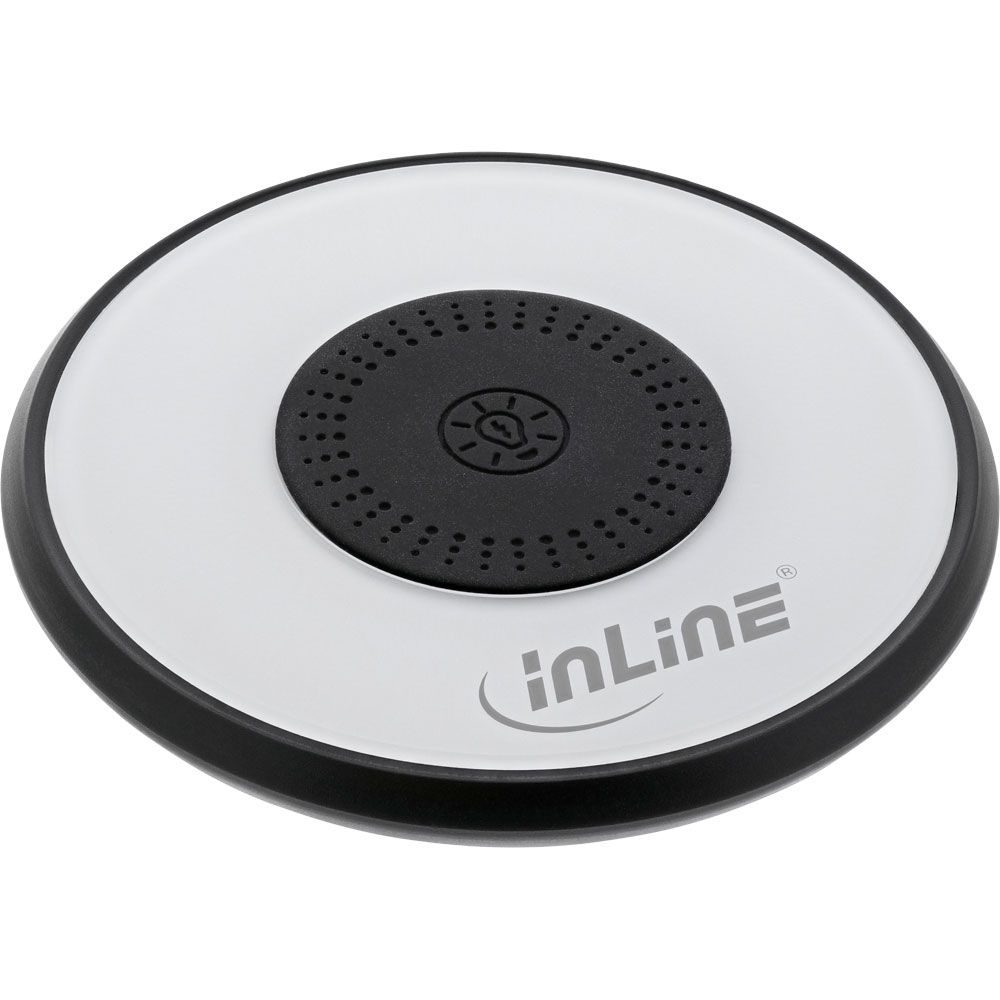 InLine® Qi charge light, Smartphone wireless fast charger 5/7,5/10W with LED lighting