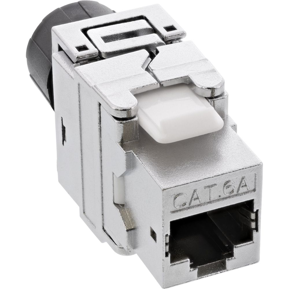 InLine® Premium RJ45 Keystone Jack Snap-In module Cat.6a, with dust cover