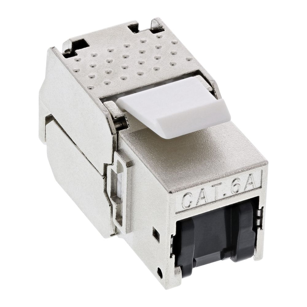 InLine® RJ45 Keystone Jack Snap-In module Cat.6a, with dust cover