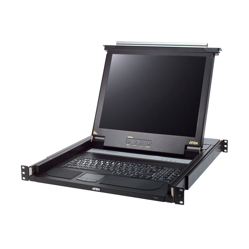 ATEN CL1000M, Slideaway 17'' LCD console, for 19'' network cabinet, UK-Layout