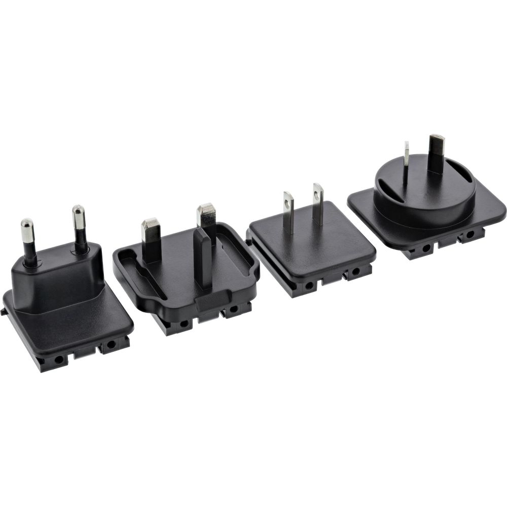 InLine® 4pcs. travel adapter plus for USB adapter 31512S black