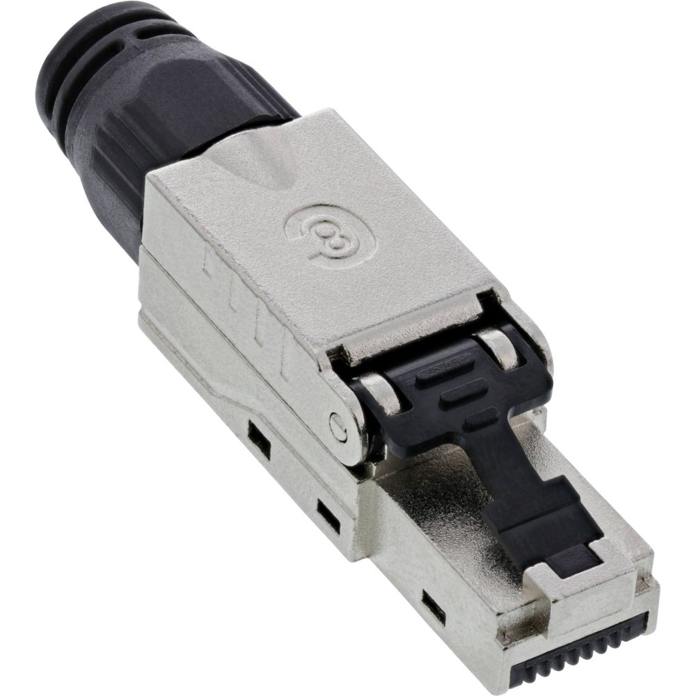 InLine® RJ45 plug Cat.8.1 2000MHz, field-installable, shielded, with screw cap
