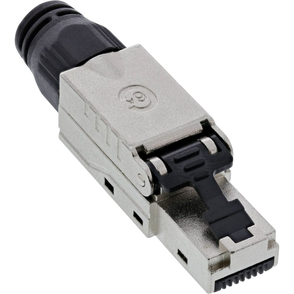 InLine® RJ45 plug Cat.6A 500MHz, field-installable, shielded, with screw cap