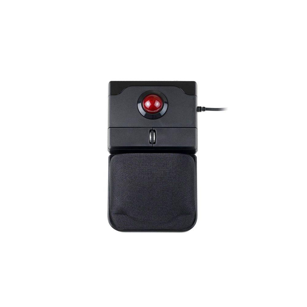 Perixx PERIPRO-506, Trackballmaus - 25mm Trackball rot glänzend und abnehmbare Gelpad-Handballenauflage