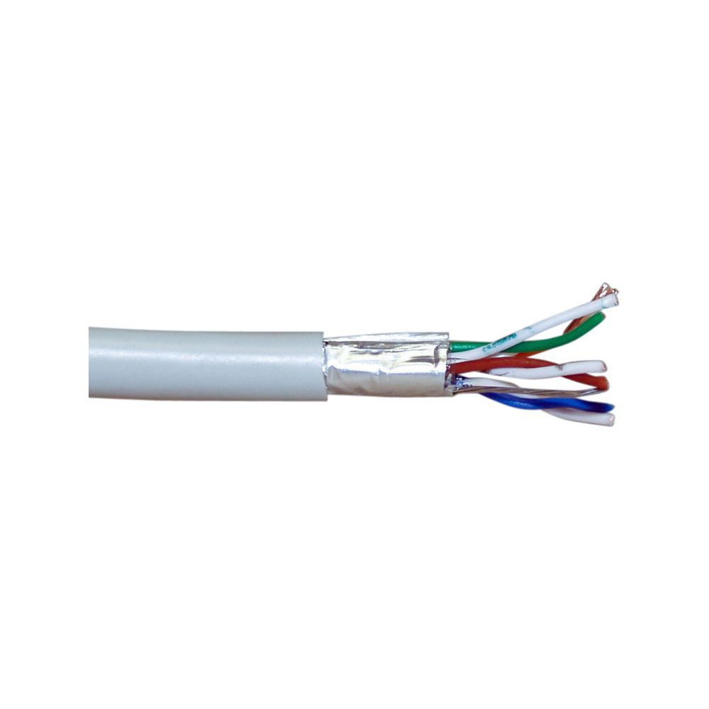 InLine® Patch Cable FTP Cat.5e AWG26 CCA PVC grey 300m