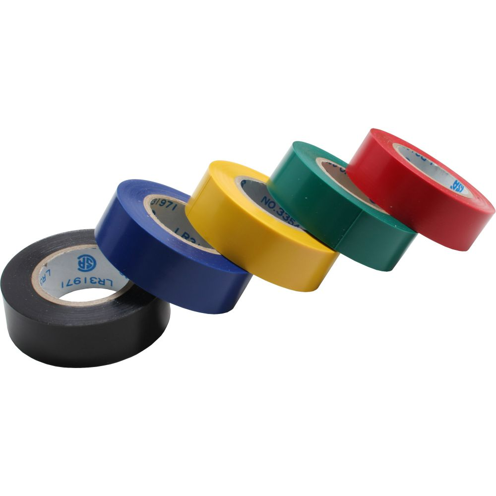 InLine® Electrical Tape 5 Pack 18mm x 9m multiple colors