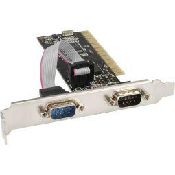 InLine® PCI Multi I/O Controller Card 2 DB9 Serial Ports