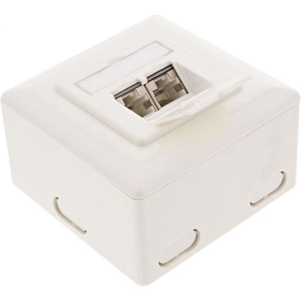 Inline 174 Cat 6 Wall Outlet Box Surface Or Flush Mount 2x