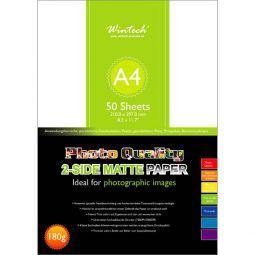 Photo paper Wintech matt Din A4, 180g, 50 sheets, 2-side matt paper