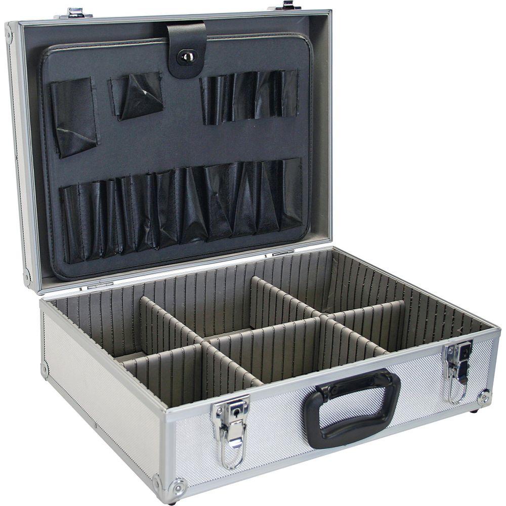 InLine® Toolbox lockable empty aluminium silver