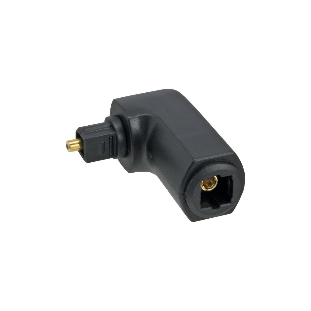 InLine® Optical Audio Adapter Toslink male to female 90° angled