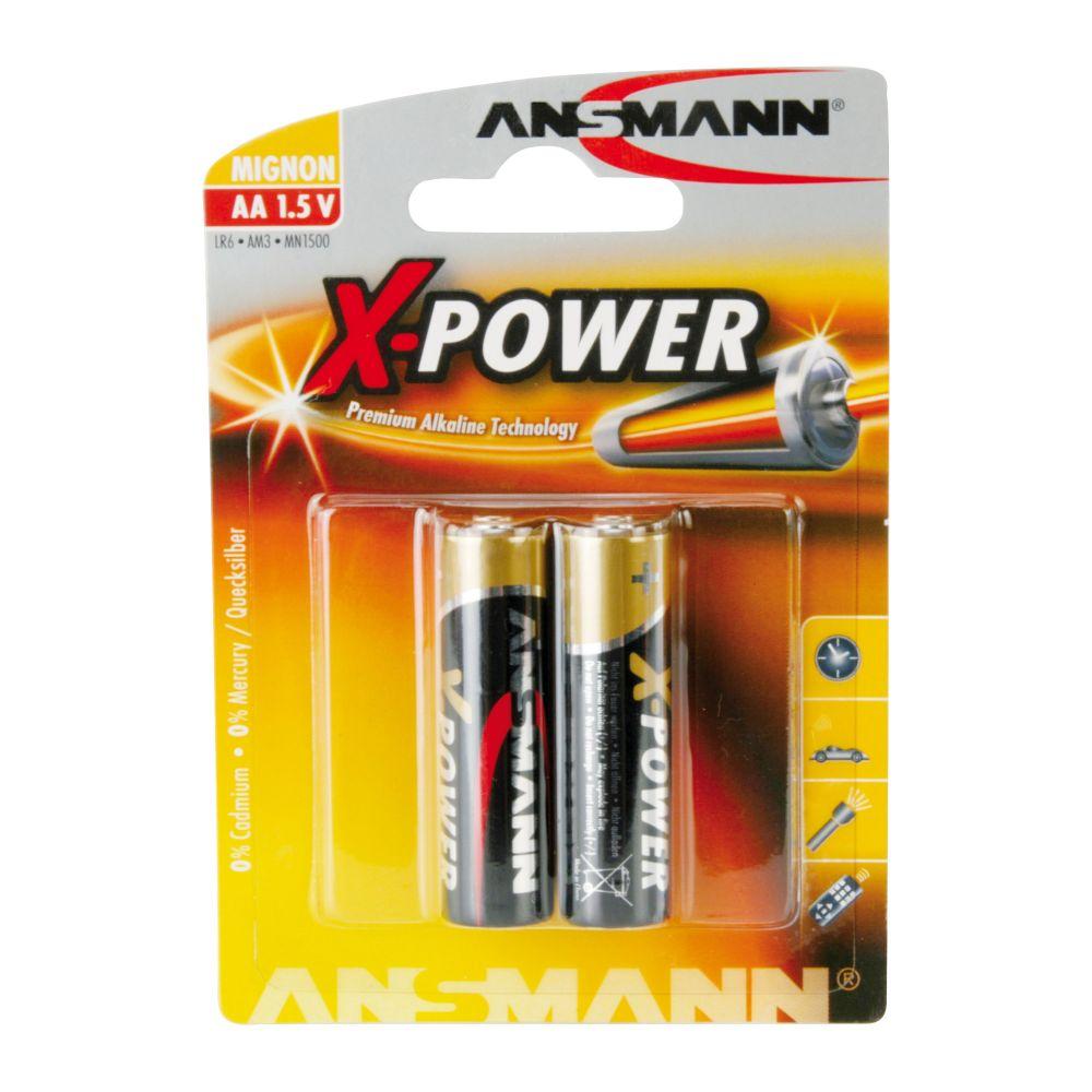 Ansmann Alkaline battery, Mignon (AA), 2pcs. Pack (5015613)