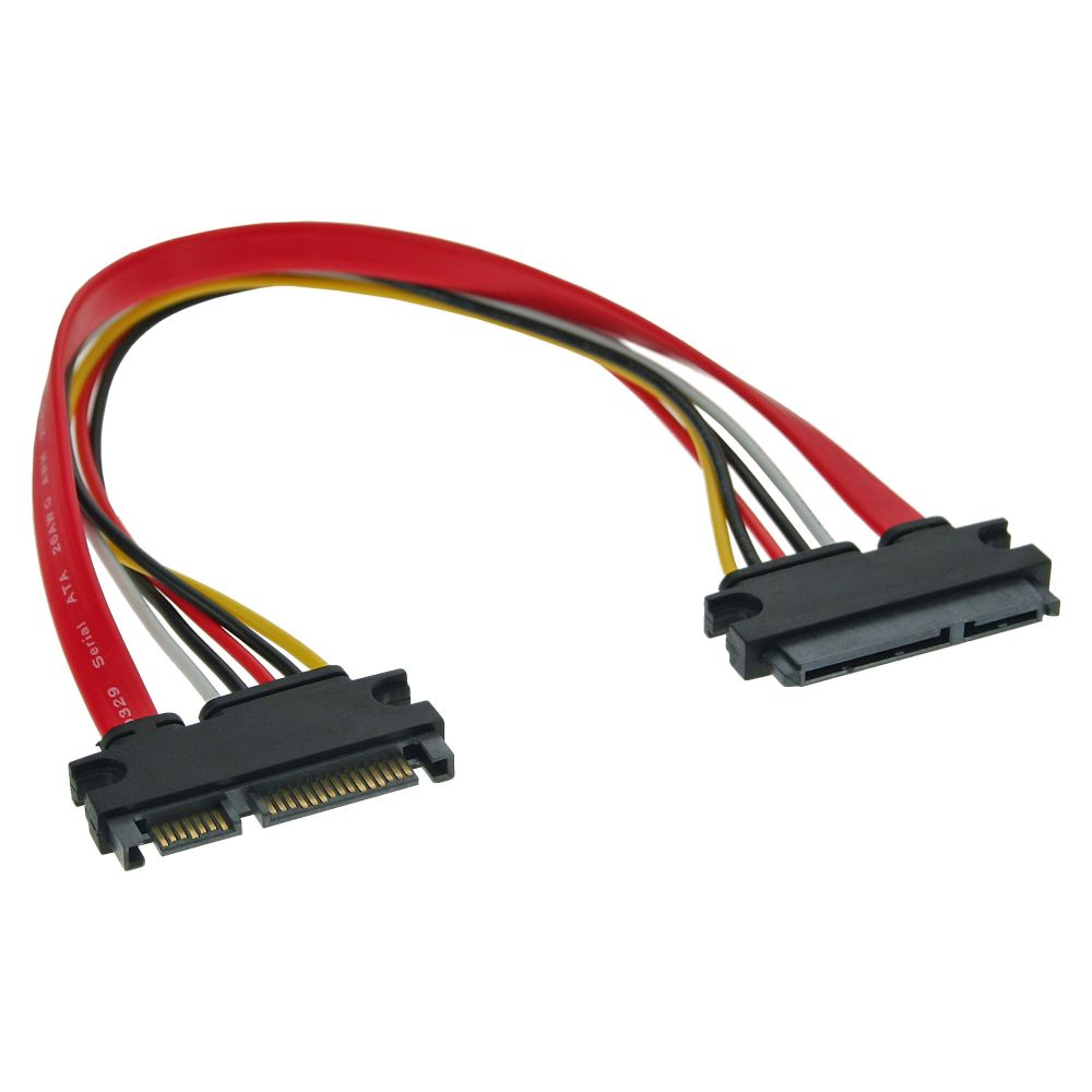 InLine® SATA Data + Power Cable SATA 6Gb/s male to female 0.5m