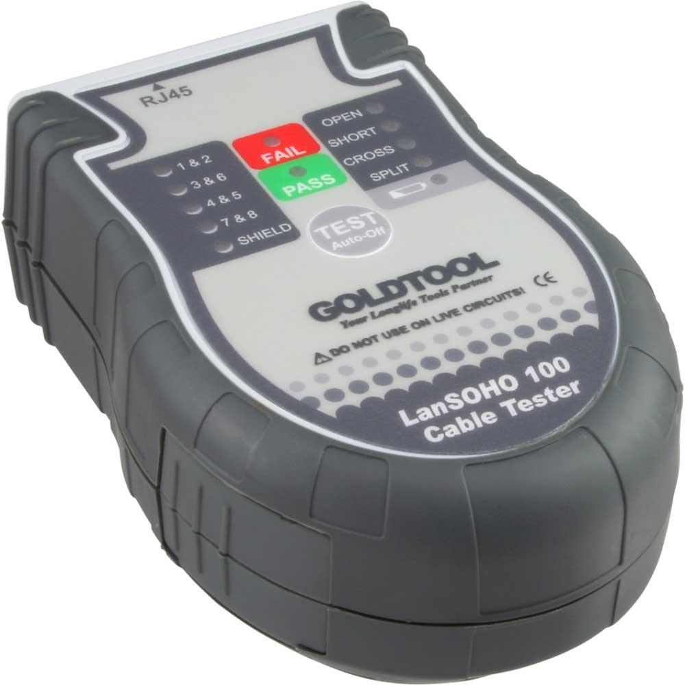 Automatic RJ45 Handy LAN cable tester, remote terminator storage