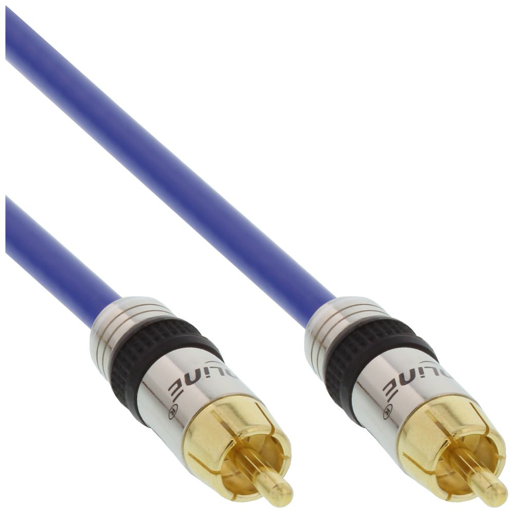InLine® Premium RCA Video & Digital Audio Cable RCA male gold plated 3m
