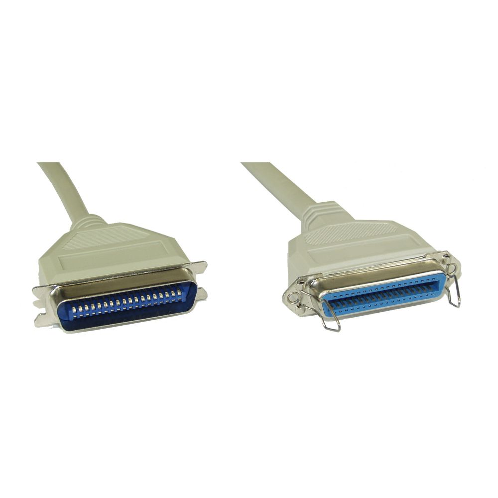 InLine® Serial Cable 36 Pin Centronics male to female direct assigned 2m