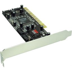InLine® Interface card SATA RAID controller card 4-channel PCI