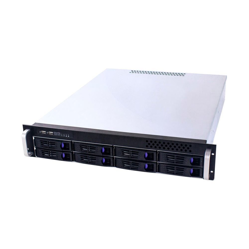 19'' industrial storage case 2HE, Fantec SRC-2080X07, black, w/o power supply