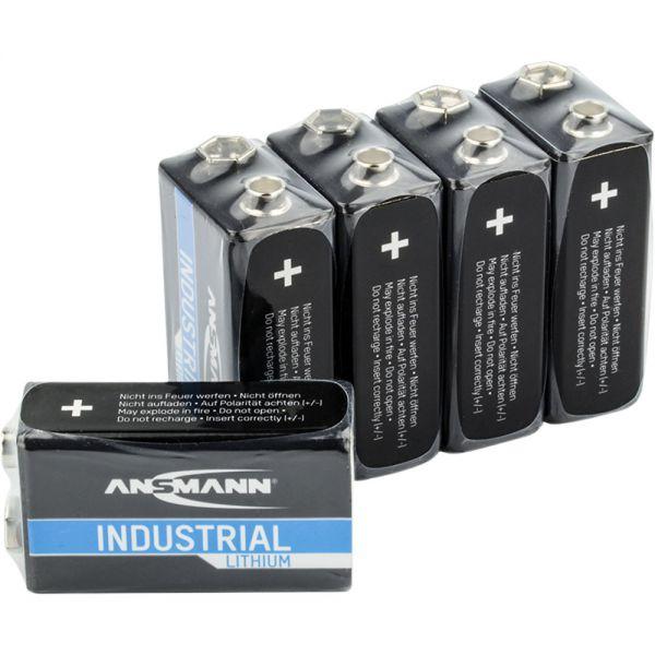 ansmann lithium industry battery 9v e block 5 pack 1505 0002 batteries power energy. Black Bedroom Furniture Sets. Home Design Ideas