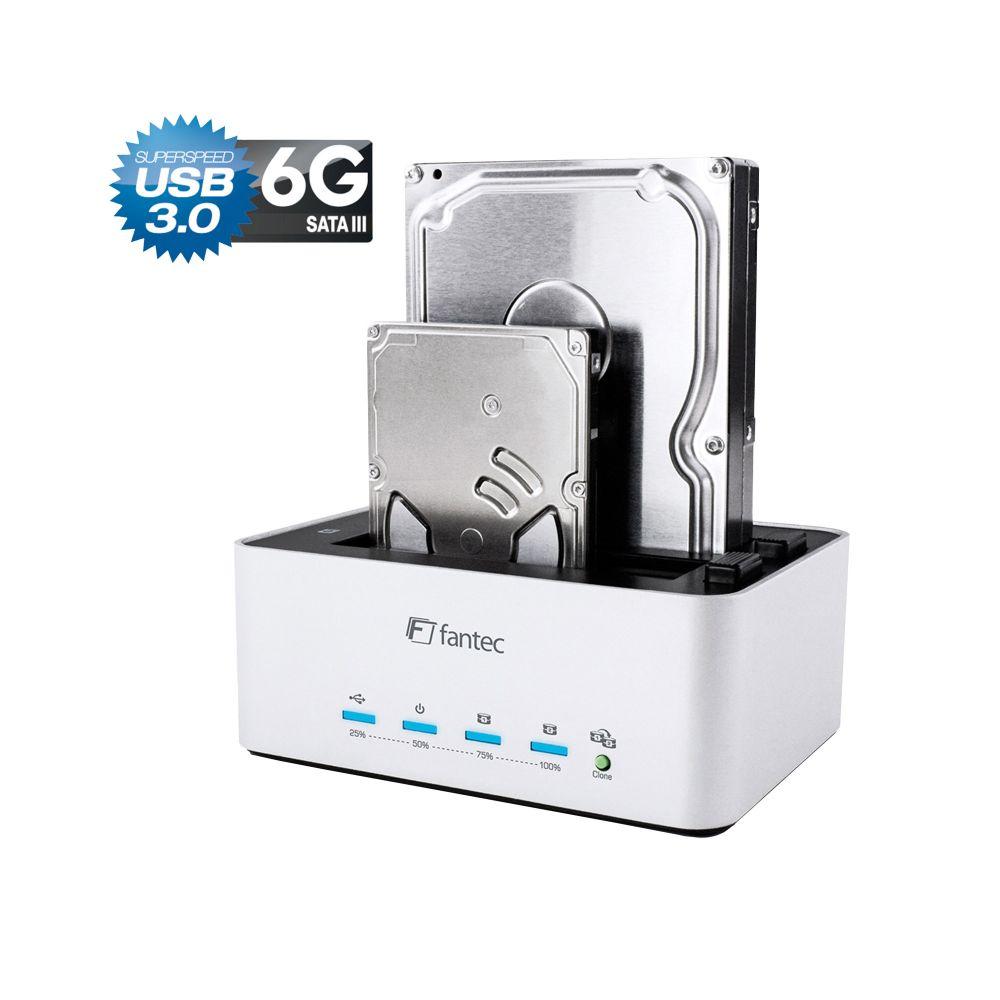 FANTEC AluDOCK 2X, SATA 2,5''/3,5'' HDD/SSD Klon & Docking Station, USB 3.0