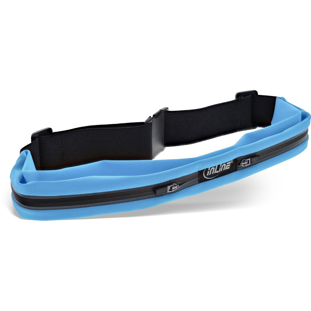 InLine® sport belt bag Duo blue, stretch, 78-125cm