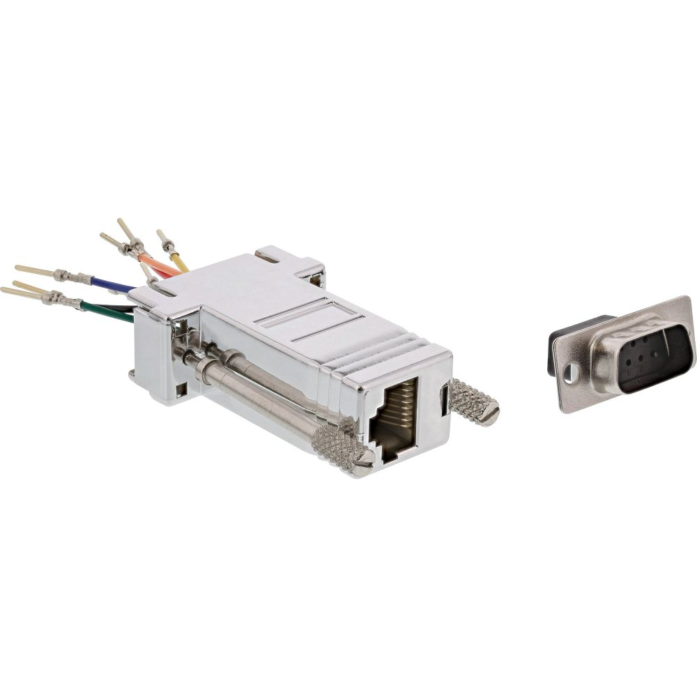 Adapter 9 Pin Sub-D male to RJ45 female metal-coated