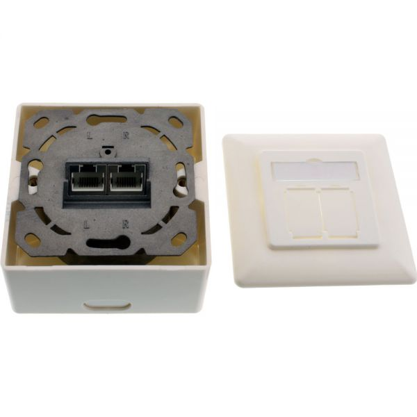 Inline 174 Wall Outlet Box Cat 6a Surface Or Flush Mount 2x