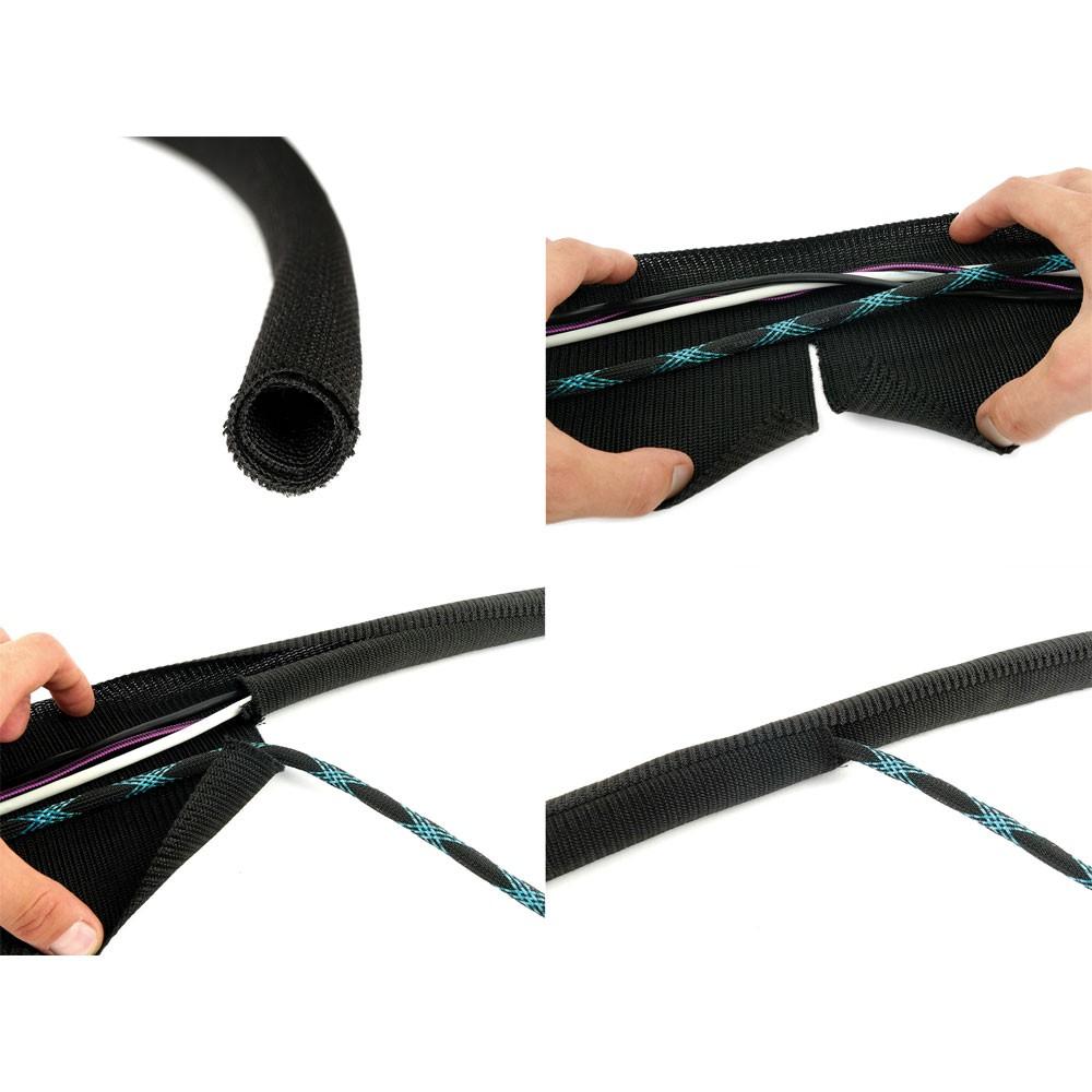 Label The Cable Tube Ltc Pro 5110 Flexible Self Closing Wiring Conduit 25m Meter Black
