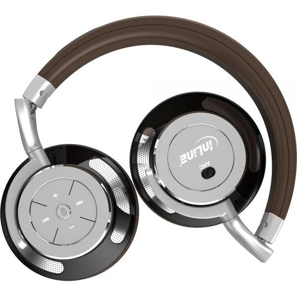 Computer Media Active Noise: InLine® PURE I, Bluetooth Over Ear Headphones With Active