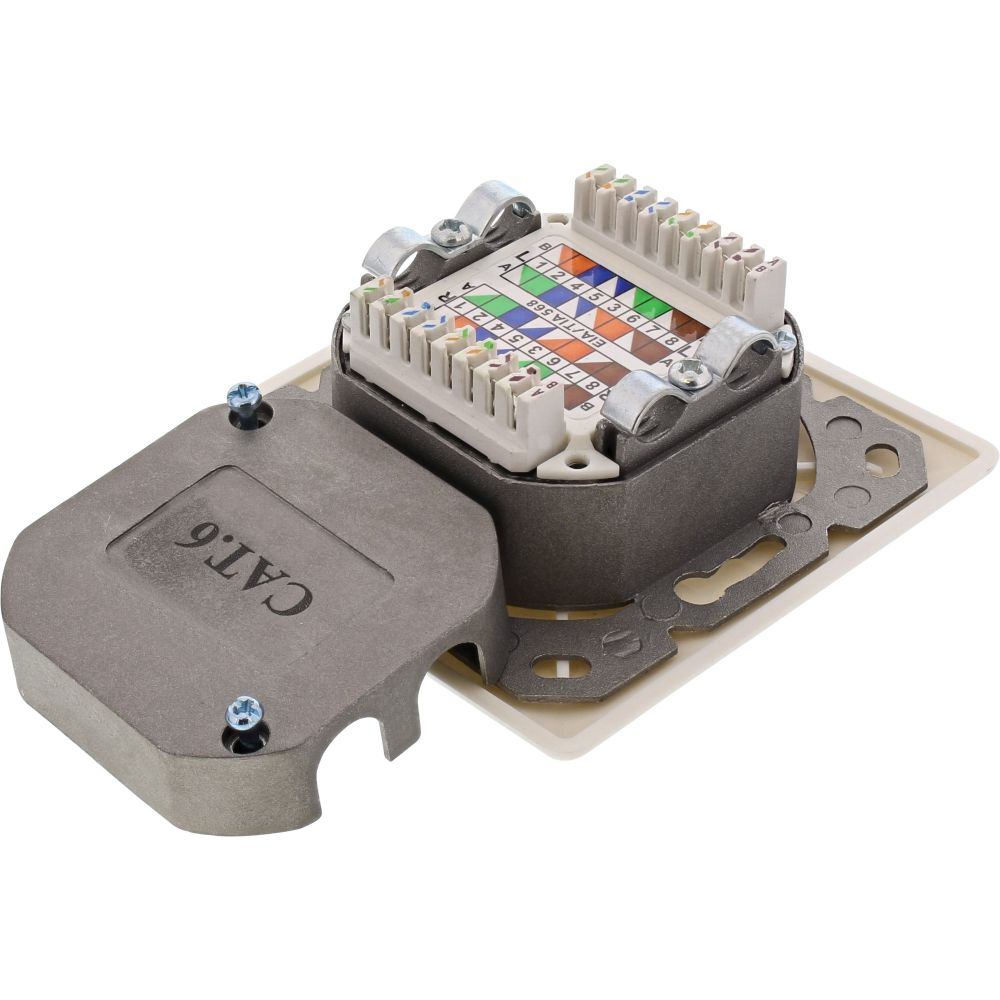 Inline 174 Cat 6 Wall Outlet Box Surface Or Concealed Mount